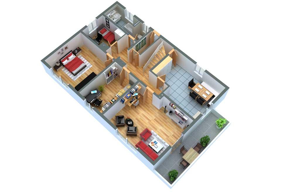 grundrissprofi 3d grundriss. Black Bedroom Furniture Sets. Home Design Ideas