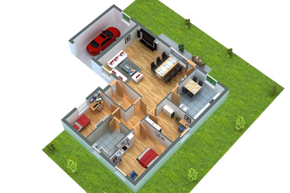 grundrissprofi grundriss in 3d umwandeln lassen. Black Bedroom Furniture Sets. Home Design Ideas