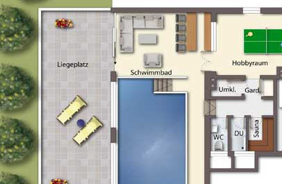 immobilien marketing 2d grundriss
