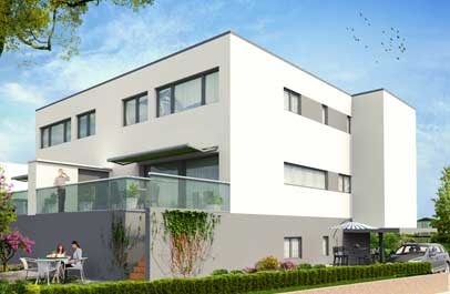 immobilien marketing aussenansicht